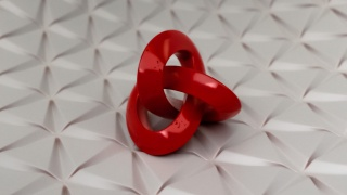 Parametric Daily 027 - Trefoil Knot on Tray with Parametric Design Texture detail