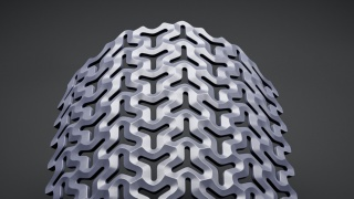 Parametric Daily 028 - Solid 3D Pattern with Triangular Holes detail