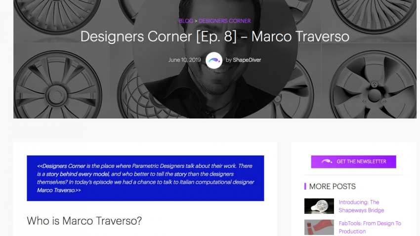ShapeDiver interview with Marco Traverso