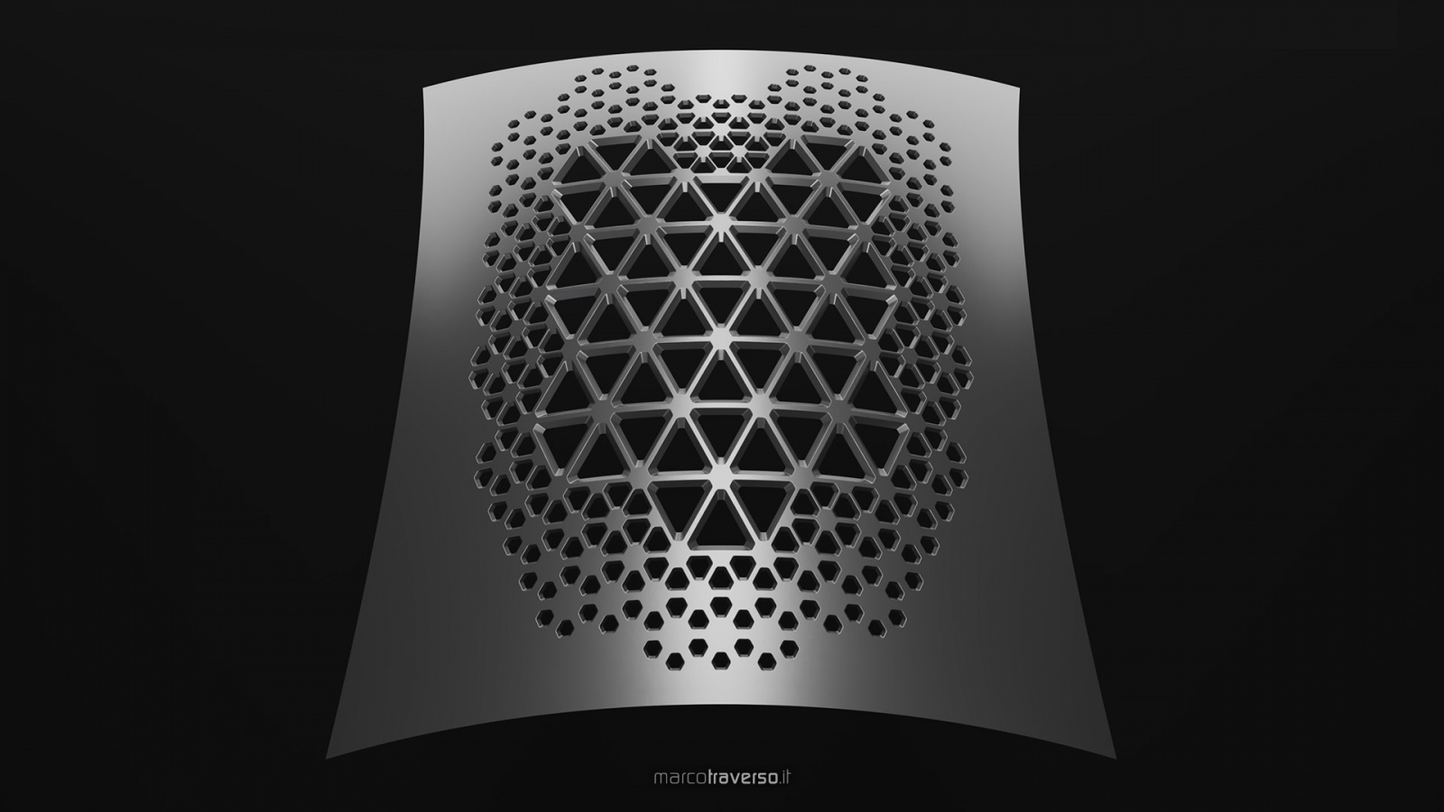 ParametricDaily 034 - 3D Hexagonal Pattern with Filleted Holes